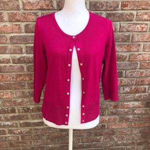 WHBM Long Sleeve Button Up Cardigan